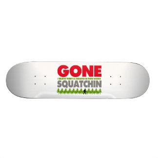 Gone Squatchin Bigfoot Hiding In Woods 21.6 Cm Skateboard Deck