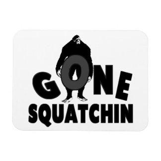 Gone Squatchin - Bigfoot holding O Vinyl Magnet