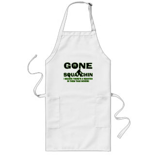 Gone Squatchin Bigfoot In Woods Long Apron