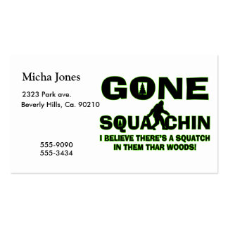 Gone Squatchin Bigfoot In Woods Pack Of Standard Business Cards