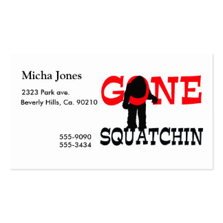 Gone Squatchin Bigfoot Trapped Pack Of Standard Business Cards