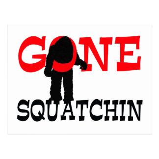 Gone Squatchin Bigfoot Trapped Postcard