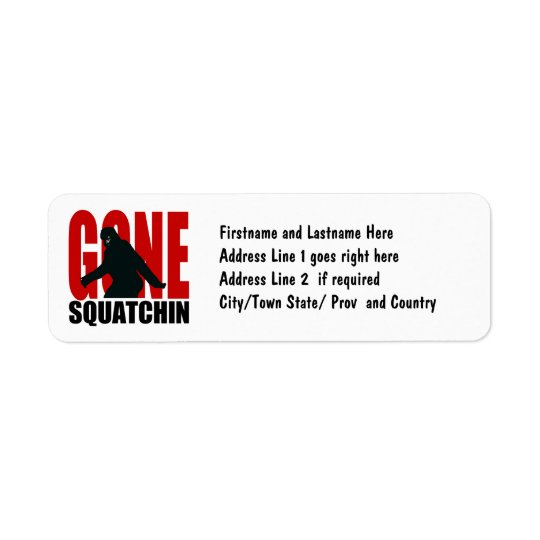 Gone Squatchin - Black and Red