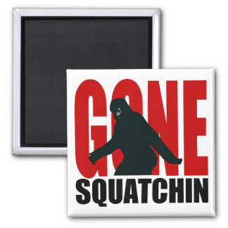 Gone Squatchin - Black and Red Refrigerator Magnets
