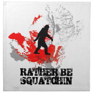 Gone Squatchin, black bigfoot Napkin