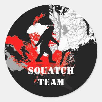 Gone Squatchin, black bigfoot Stickers