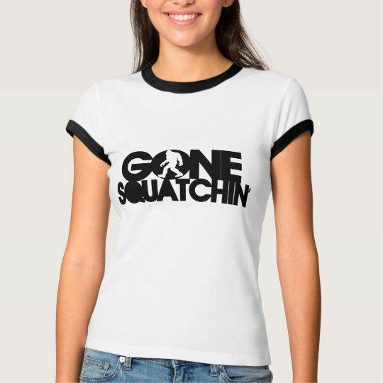Gone Squatchin' Black / White T-Shirt