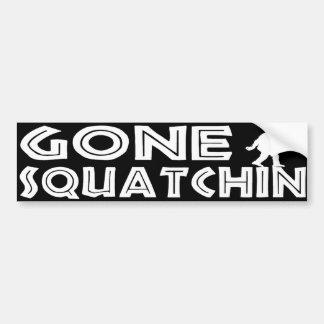 Gone Squatchin Bumper Sticker
