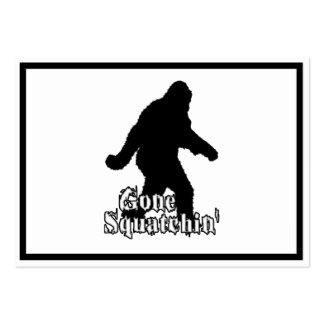 Gone Squatchin' Pack Of Chubby Business Cards