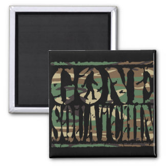 GONE SQUATCHIN CAMO SQUARE MAGNET