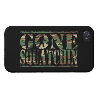 GONE SQUATCHIN CAMOUFLAGE iPhone 4 COVERS