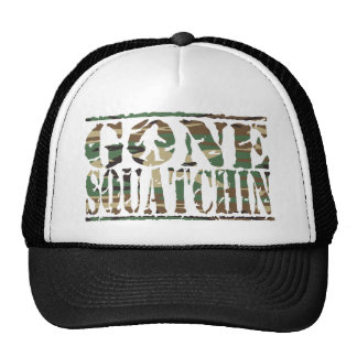 Gone Squatchin Camouflage Print Hat