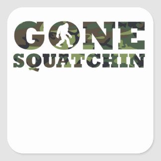 Gone Squatchin' Camouflage Stickers
