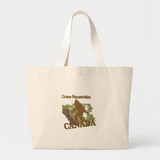 Gone Squatchin - Canada Canvas Bag