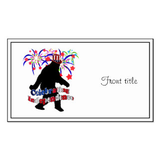 Gone Squatchin - Celebrating Independence Business Card