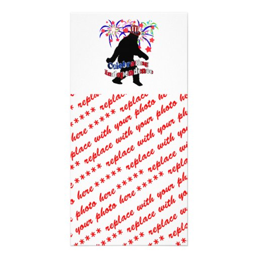 Gone Squatchin - Celebrating Independence Picture Card