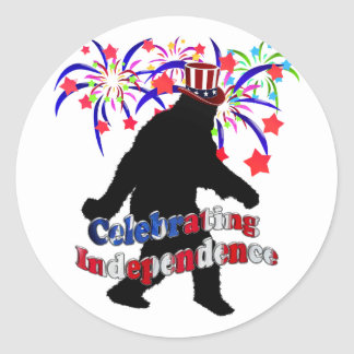 Gone Squatchin - Celebrating Independence Stickers