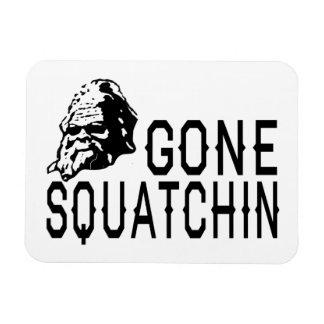 Gone Squatchin - Cool Sunglass Version B W Flexible Magnet