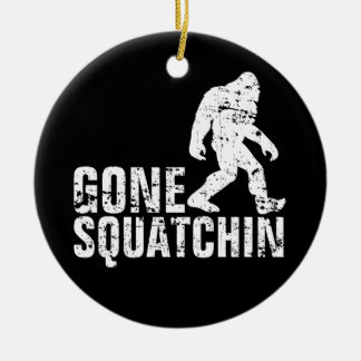 Gone Squatchin - Distressed Christmas Ornament