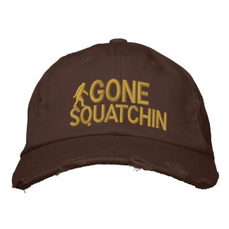 Gone Squatchin Embroidered Baseball Caps