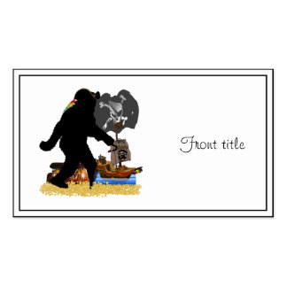 Gone Squatchin' Fer Buried Treasure Double-Sided Standard Business Cards (Pack Of 100)