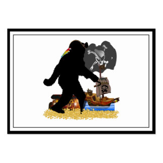Gone Squatchin' Fer Buried Treasure Large Business Cards (Pack Of 100)