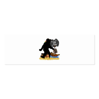 Gone Squatchin' Fer Buried Treasure Double-Sided Mini Business Cards (Pack Of 20)