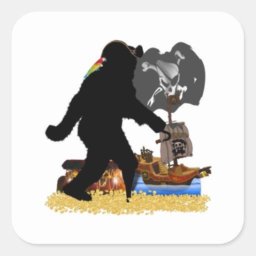 Gone Squatchin' Fer Buried Treasure Square Sticker
