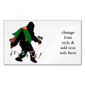 Gone Squatchin - Fiesta Squatchin Magnetic Business Cards (Pack Of 25)