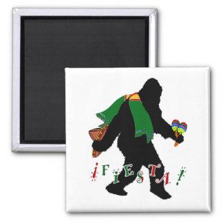 Gone Squatchin - Fiesta Squatchin Square Magnet