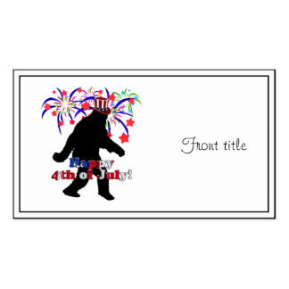 Gone Squatchin  for 4th of July (Text & Fireworks) Double-Sided Standard Business Cards (Pack Of 100)