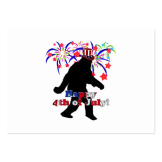Gone Squatchin  for 4th of July (Text & Fireworks) Pack Of Chubby Business Cards