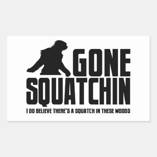 Gone Squatchin - Funny Bigfoot Believer Rectangular Sticker