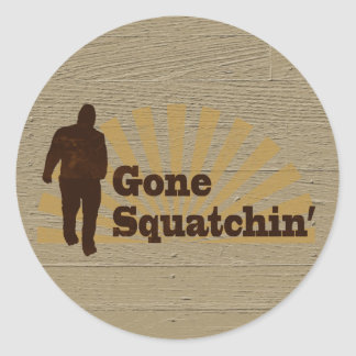 Gone Squatchin' Funny Bigfoot Sasquatch Classic Round Sticker
