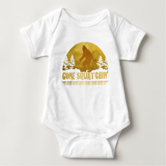 Gone Squatchin' Green Baby Bodysuit