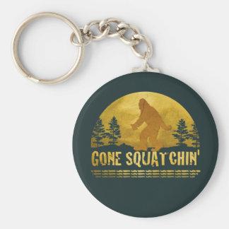 Gone Squatchin' Green Basic Round Button Key Ring