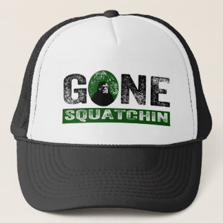 Gone Squatchin (Green) Grunge Squatch Trucker Hat