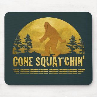 Gone Squatchin' Green Mouse Mat