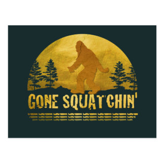 Gone Squatchin' Green Postcard