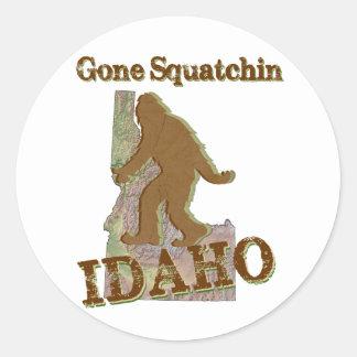 Gone Squatchin - Idaho Classic Round Sticker