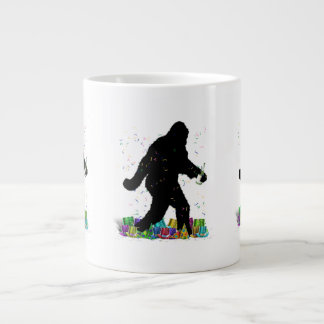 Gone Squatchin' In The New Year Large Coffee Mug