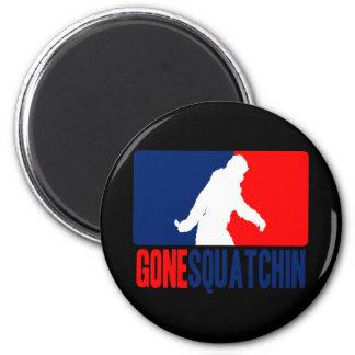 Gone Squatchin League 6 Cm Round Magnet