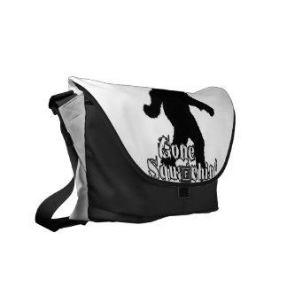 Gone Squatchin' Messenger Bags