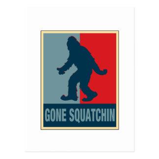 Gone Squatchin Obama Postcard