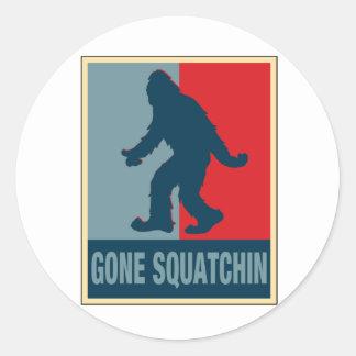 Gone Squatchin Obama Round Sticker