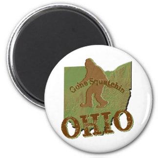 Gone Squatchin Ohio 6 Cm Round Magnet