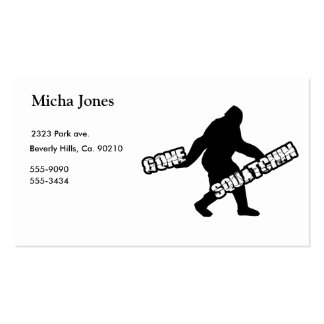 Gone Squatchin Pack Of Standard Business Cards