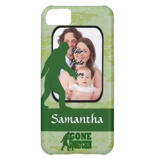 Gone squatchin photo template cover for iPhone 5C