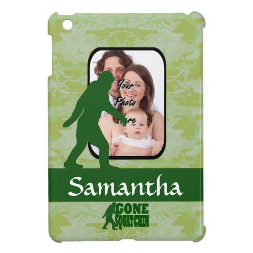 Gone squatchin photo template cover for the iPad mini