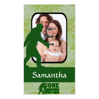 Gone squatchin photo template pack of standard business cards